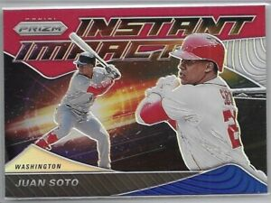 2020 Prizm Juan Soto Red White And Blue Instant Impact Insert SP No. II-7 TI