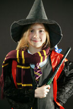 Harry Potter-Wizard-Witch-Hermione Set Scarf-Hat-Tie-Wand World Book Day Kids