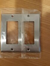 (10 PCS) MULBERRY 97402 Decora  2-Gang Stainless Steel Wall Plate  NEW