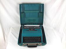 Vintage Olivetti Studio 45 Teal Typewriter With Case Spain