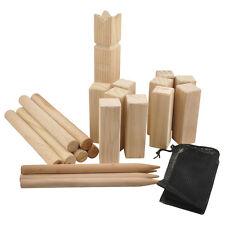 Kubb Wurfspiel Spiel Rasenschach Wikingerschach Outdoor Holz