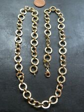 VINTAGE 9ct GOLD FANCY LINK NECKLACE CHAIN 24 inch C.2000