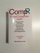IT- und Computerrecht - CompR Jochen Schneider Taschenbuch Deutsch 2018 13