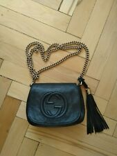 100% Authentic GUCCI Soho Disco Chain bag Crossbody with tassel Black color