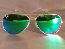Ray Ban RB3026 Aviator Unisex Sunglasses 62MM Gold Frame/Green Mirror Lens
