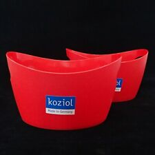 Koziol Bottichelli XS Utensil Storage Basket Unit Plastic Emerald Green 450 ml
