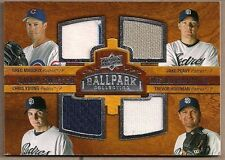 UD '08 BALLPARK COLLECTION QUAD GU JERSEY PADRES MADDUX HOFFMAN PEAVY YOUNG #213