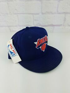 NWT Vintage 90s NBA New York Knicks New Era Fitted Hat Cap Size 7 1/4 Ewing WOOL