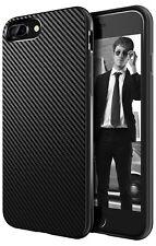 IPhone 7/8 plus funda para de silicona, bumper, protección slim case cover carbon óptica