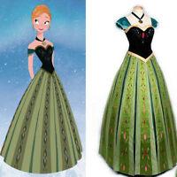 2019 Frozen Snow Anna Fancy Dress Princess Queen Cosplay Halloween Costume Adult