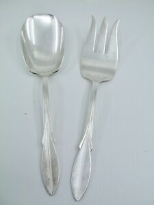 Vintage Wm ROGERS 1941 PRISCILLALady Ann BuffetCold Meat Serving Fork 8 34