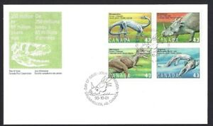 Canada  # 1495 -1498a    PREHISTORIC LIFE     Brand New 1993 Unaddressed Issue