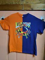 Vintage Half & Half Color Block Maryland Crab Baltimore Shirt Size XL Purple...