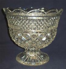 """Anchor Hocking Wexford 7"""" Footed Pedestal Compote Centerpiece Fruit Bowl"""