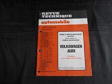 revue technique automobile-volkswagen audi-bareme de temps-supplement du n°445