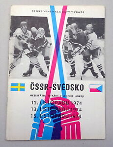 1974 CZECHOSLOVAKIA vs. SWEDEN Ice Hockey PROGRAM Programme