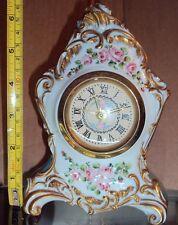 orologio capodimonte porcellana roccaile meccanico suoneria 900
