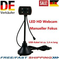 LED HD Webcam Desktop-Computer Video Webcam USB mit Mikrofon Nachtsichtkamera