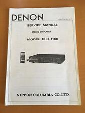 DENON DCD-1100 Stereo CD Player Service Manual - Factory Original