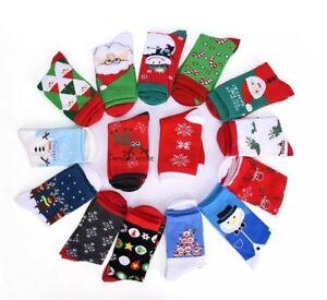 12 PAIRS FAMILY CHRISTMAS SOCKS GIFT SOCKS KIDS BOYS GIRLS MEN WOMEN XMAS SOCKS