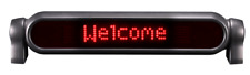 Pro-Lite Personal Messenger Programmable LED Sign for Car, Desktop, or Counter