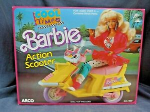 VINTAGE MATTEL & ARCO TOYS  BARBIE DOLL COOL TIMES ACTION SCOOTER 1988!