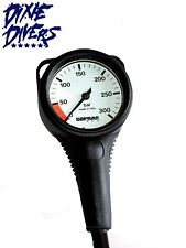 Sopras Sub Standard Spg With Boot Metric Pressure Gauge Bar With Hose 2.4 Inch