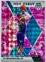 2019-20 Panini Prizm Mosaic Pj Washington Jr. Rookie RC Nba Debut Pink Camo 🔥📈