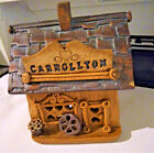 Rare Signed 1987 Windy Meadows Carrollton Cabin Heart Windows Hole For Light