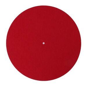 "3mm RED Felt 12"" Slip Mat Medium Density Turntable Record Player Universal Fit"