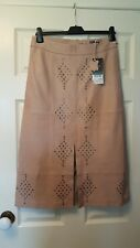NEXT size 10 sand studded leather lined long pencil skirt with front split