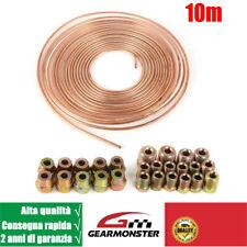 10m Tubo Freno Rame Linea 4.75mm + 10 dado di raccordo 10 collegamento a vite