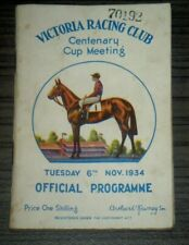 Vintage 1934 Victoria Racing VRC Melbourne Cup Horse Race Programme  Peter Pan