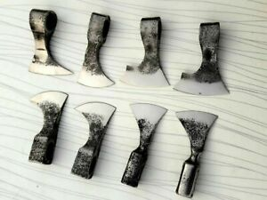 MDM LOT OF 8 AXE BLANK HEAD TOMAHAWK VIKING SPLITTER VINTAGE COMBAT AXE AX AXT X