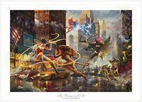 Thomas Kinkade Studios The Women of DC 18 x 27 Commemorative LE Wonder Woman