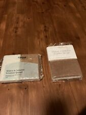 Grove Collaborative Walnut + Cellulose Scrubber Sponge, 2 Packages With 4 Sponge