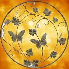 Wand Relief Schmetterling Dekoration rund Wanddekoration Geschenk Vintage Shabby