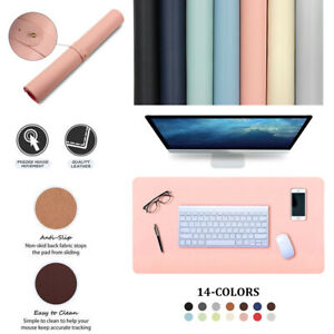Laptop Computer Home Office Keyboard Mice Mat Desk Mat PU Leather Mouse Pad