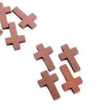 20 teile / los 2 * 3 cm Kreuz Holzperlen Jesus Perle Schmuck Religiöse Halskette