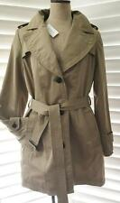 Banana Republic L women $198 NWT Tan Trench Raincoat Remove Lining All Weather
