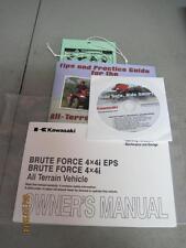 NEW 2012 Kawasaki Brute Force 4X4i EPS Owners Manual & Ride Tips & DVD #2582