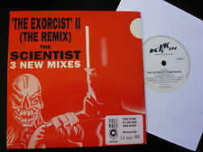 """THE SCIENTIST...THE EXORCIST II (THE REMIX)...PROMOSTICKER 7""""...MINTY RAVE DANCE"""