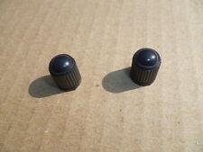 NEW BLACK VALVE CAPS X 2 PIT BIKE QUAD BIKE