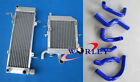 For HONDA RVF400 NC35 or NC30 VFR400 Alloy Radiators + silicone hose