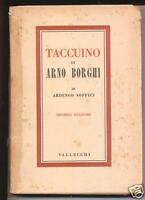 1942 TACCUINO DI ARNO BORGHI DI ARDENGO SOFFICI