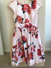 Leona Edmiston Dress Size 8 Floral Vintage Retro Fashion