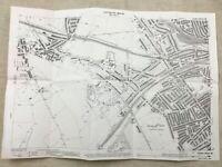 Antique London Map City Streets Willesden Green Brondesbury Victorian 1893