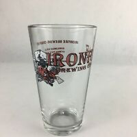 IRON FIRE BREWWING Pint Beer Glass Fast Shipping