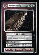 STAR TREK CCG VOYAGER RARE CARD KAZON WARSHIP
