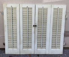 "New Listing26"" T x 31"" W Vtg Colonial Wood Interior Louver Plantation Window Shutters"